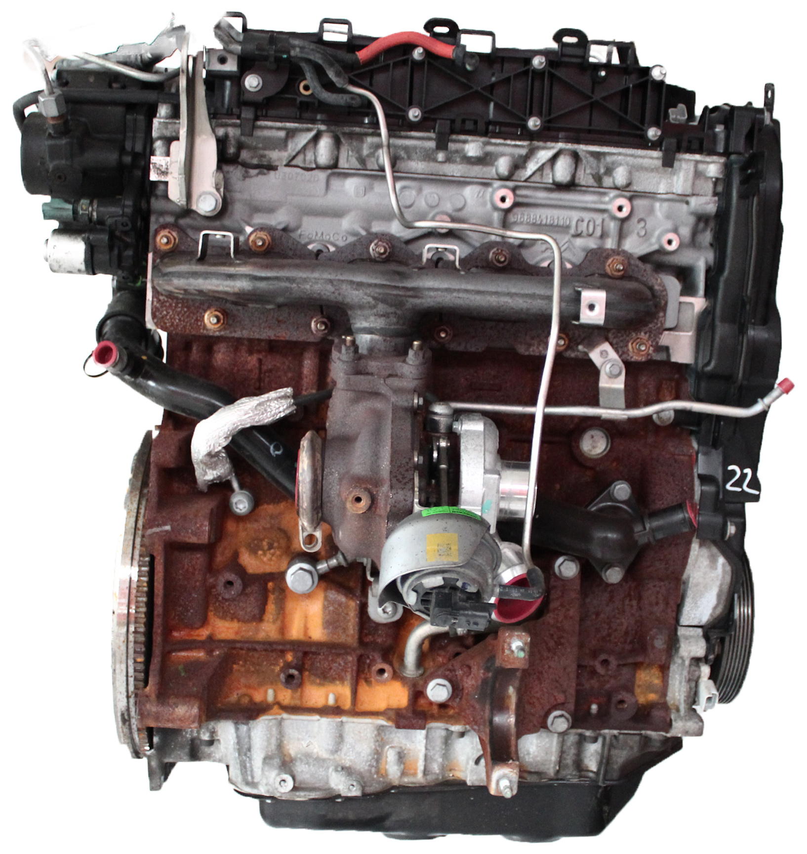 Motor 2011 Ford 2,0 TDCI Diesel UFDB mit Anbauteilen
