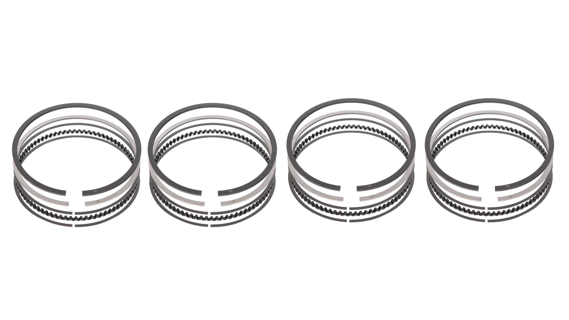 4x anneau de Piston jeu de Segments de piston Audi Seat Skoda VW A2 1,4 16V AUA 030198151E NOUVEAU