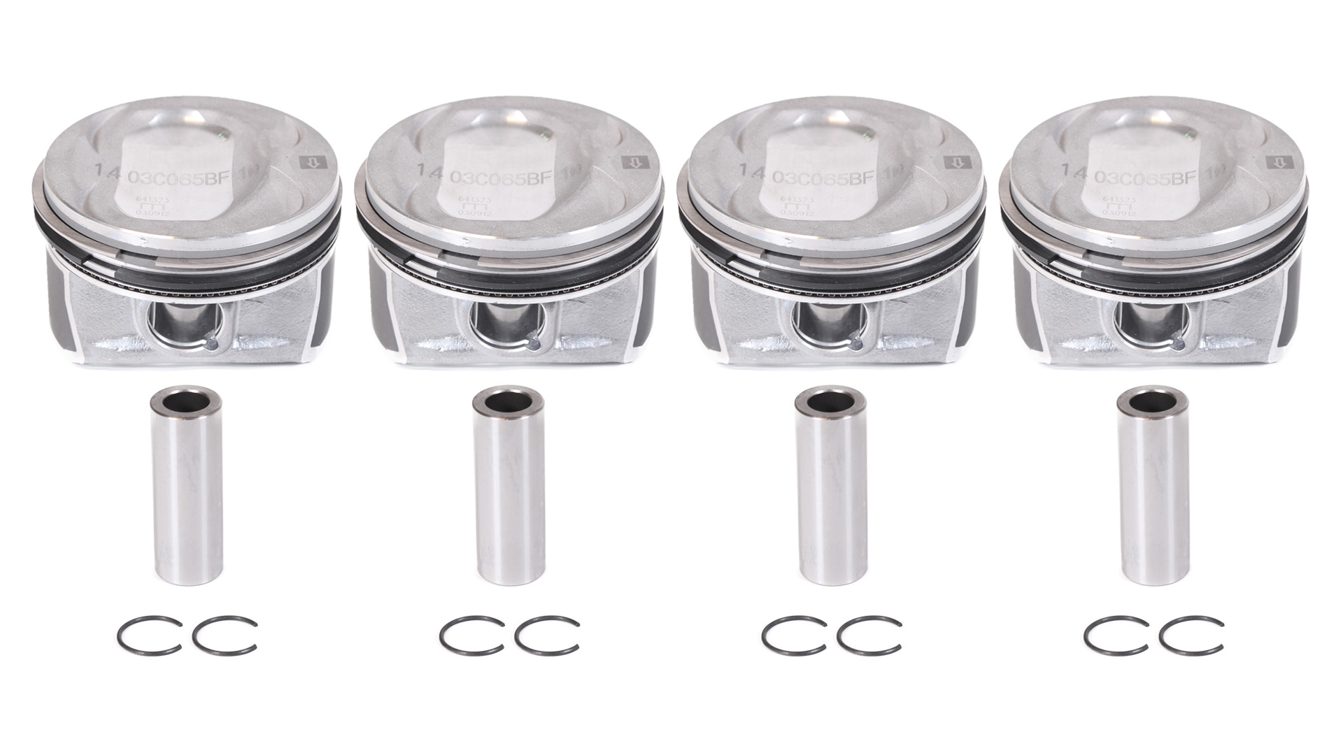 4x Piston set Audi VW Skoda piston 1.4 TSI TFSI CAV CAX 03C107065BF NEW