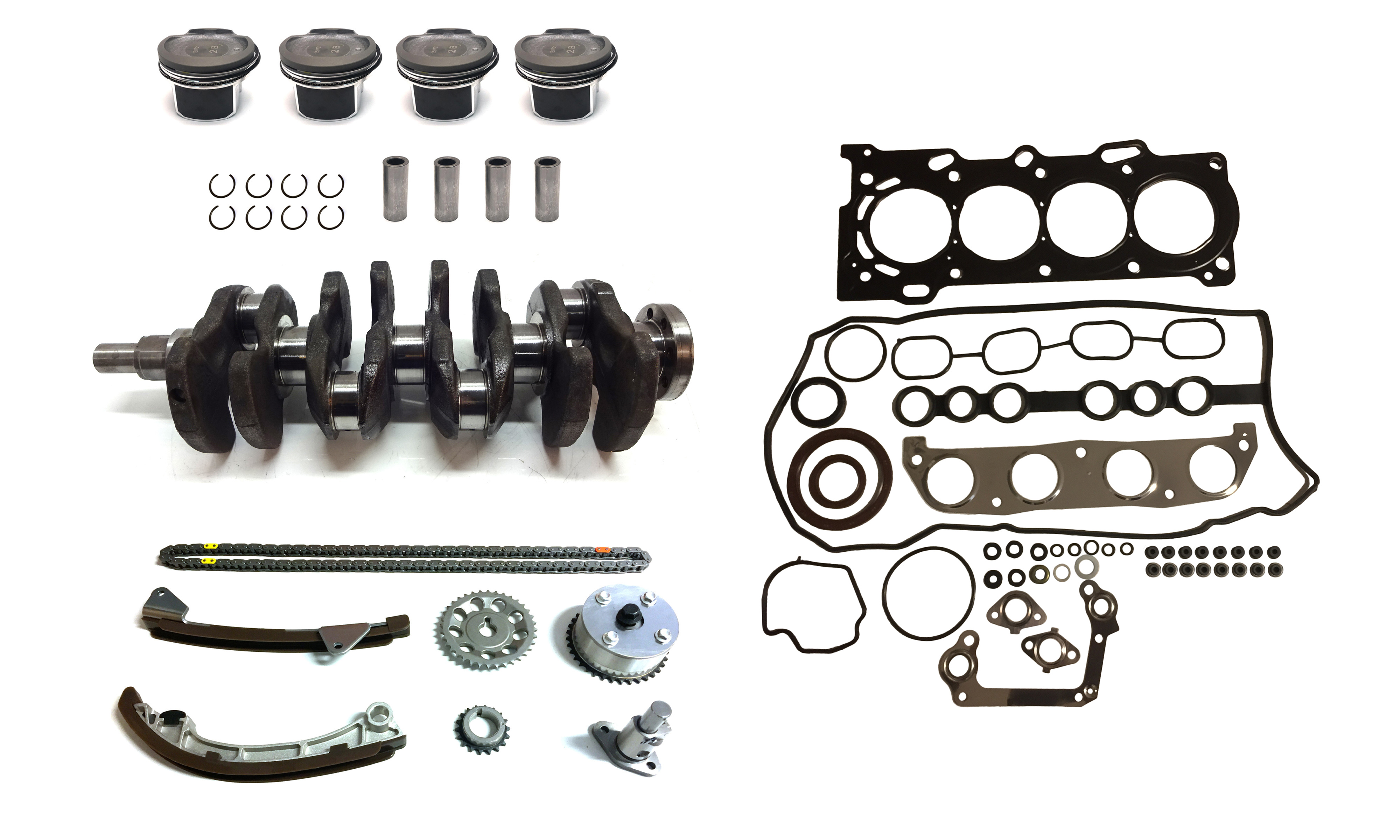 Crankshaft Piston Timing chain kit for Toyota Avensis Caldina are 1.8 VVT-i 1ZZ-FE 1ZZ