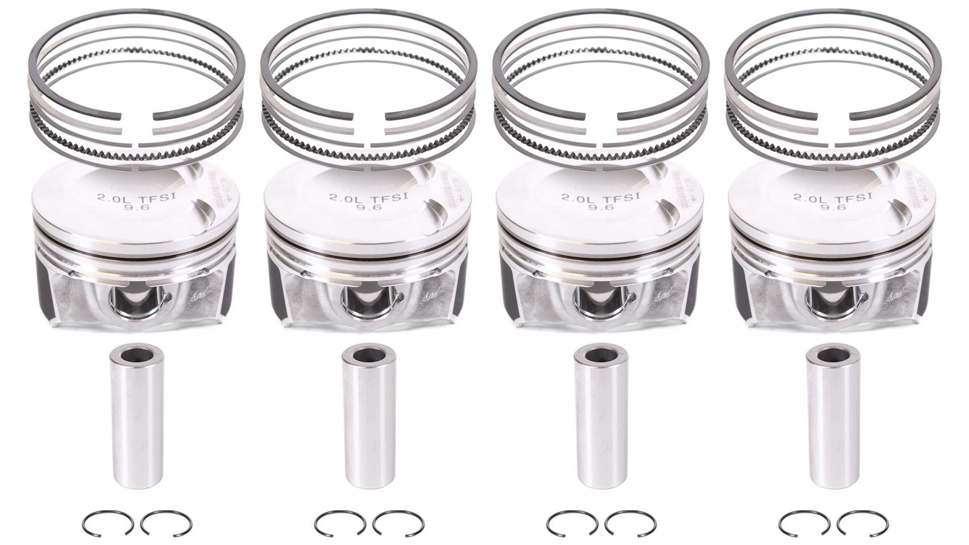 4x Piston kit for VW Audi 2.0 TSI TFSI CDN CCZ CCT CBF 06J107103N NEW