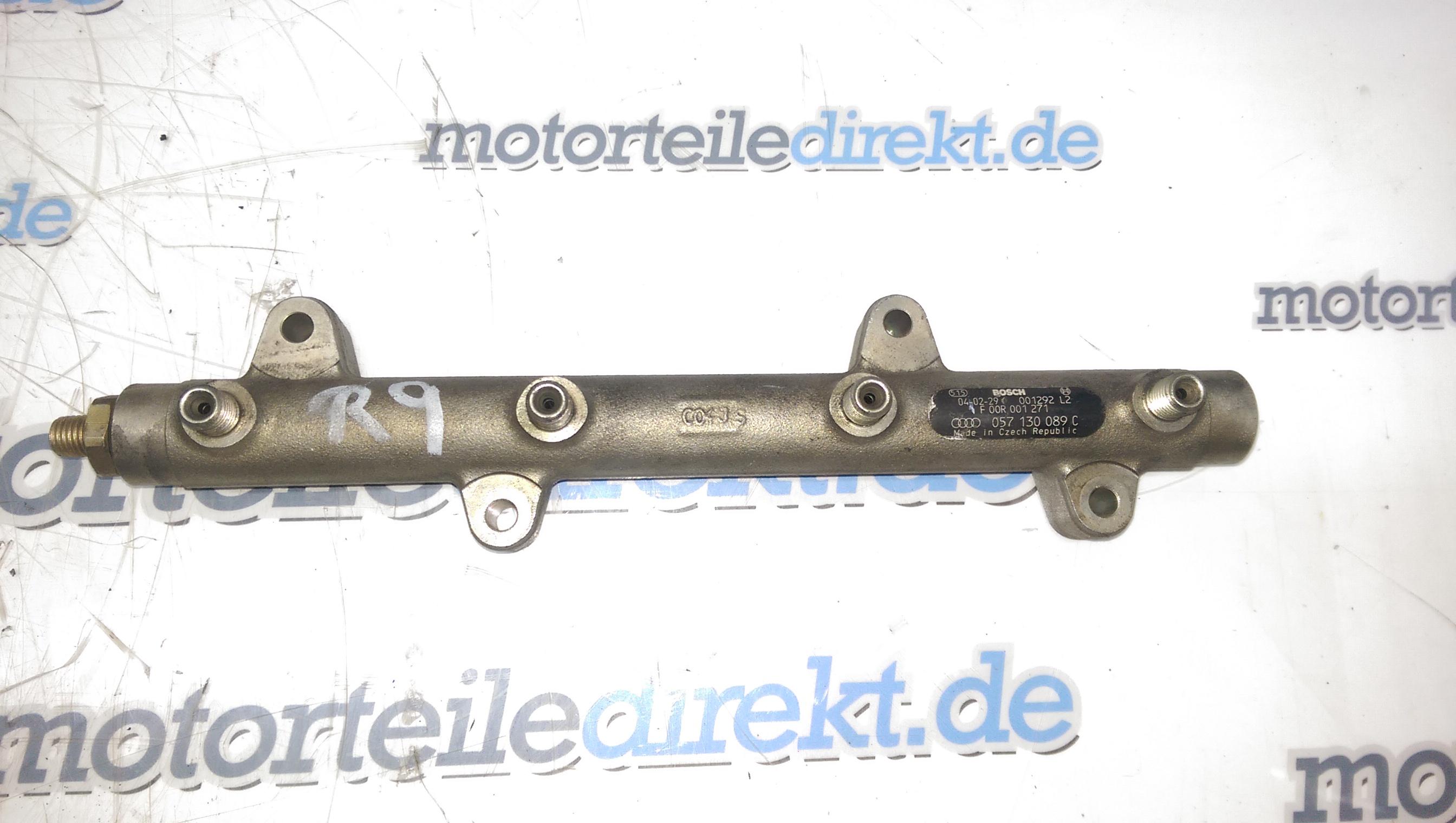Tubo rail Rail iniettori Audi A8 4E 4,0 TDI Quattro 057130089C ASE 275 CV