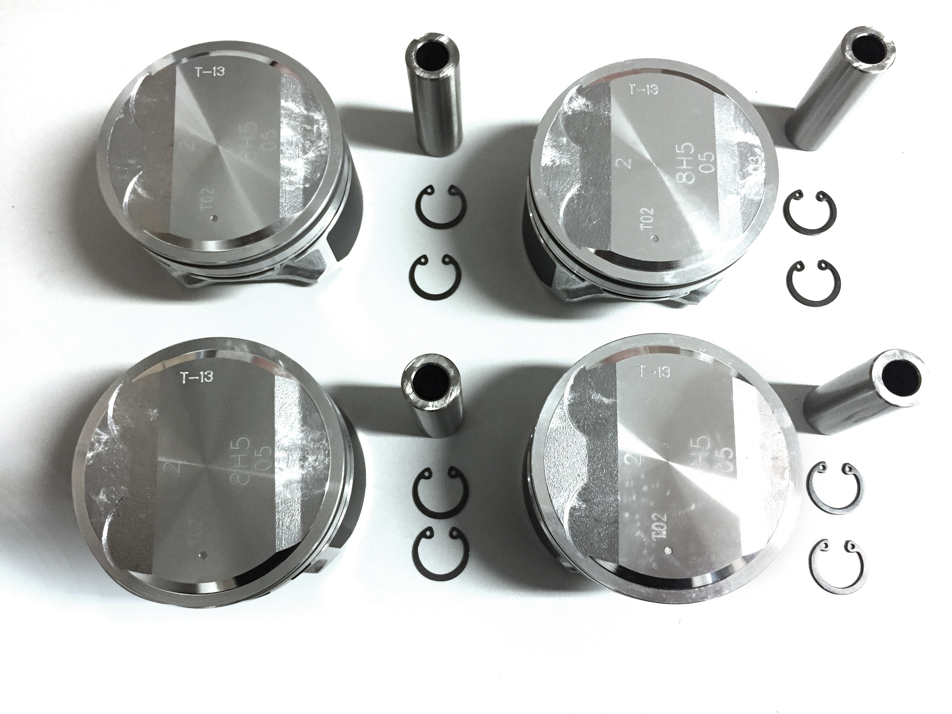 4x Piston set Nissan X-Trail Primera P12 is 2.0 QR20 QR20DE NEW