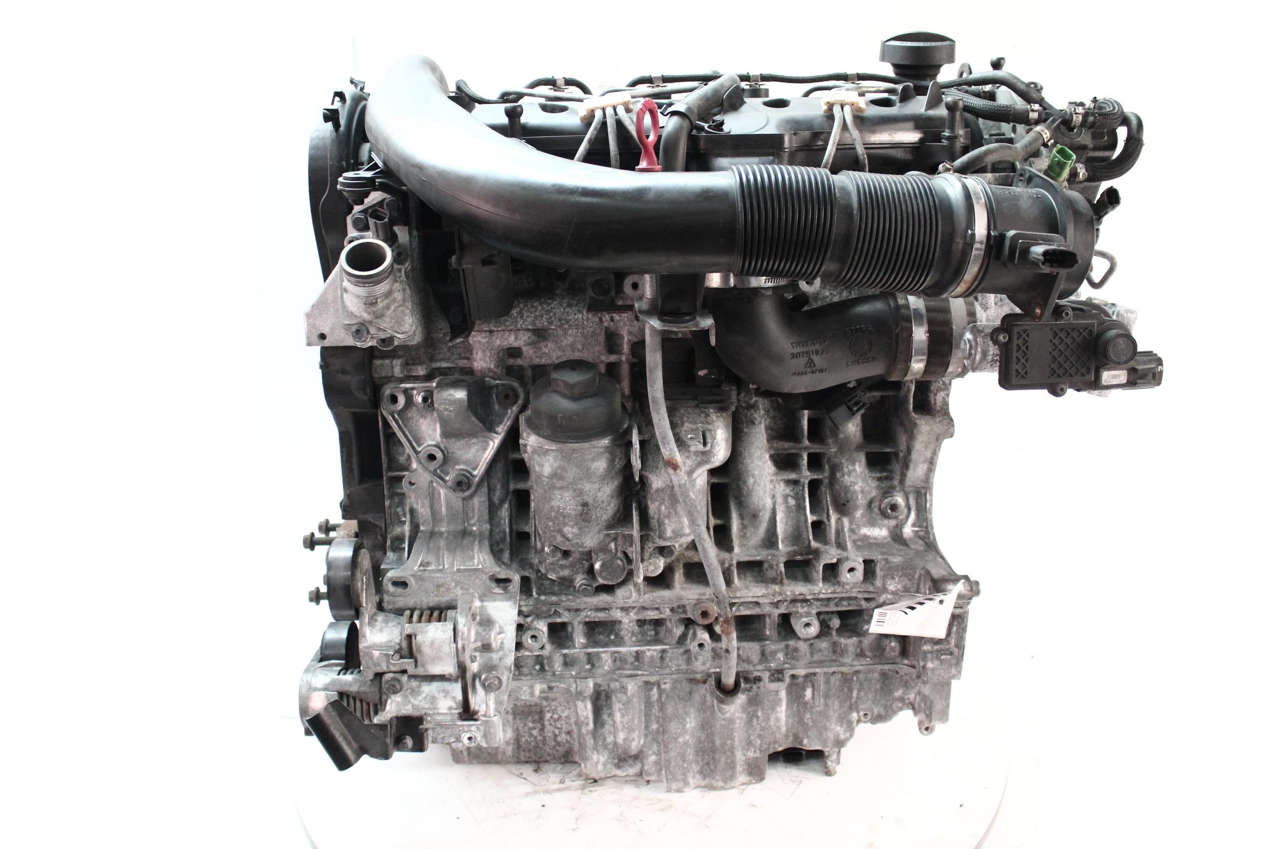 Motor 2009 Volvo C30 C70 S40 V50 2,4 D5 Diesel D5244T13 mit Anbauteilen