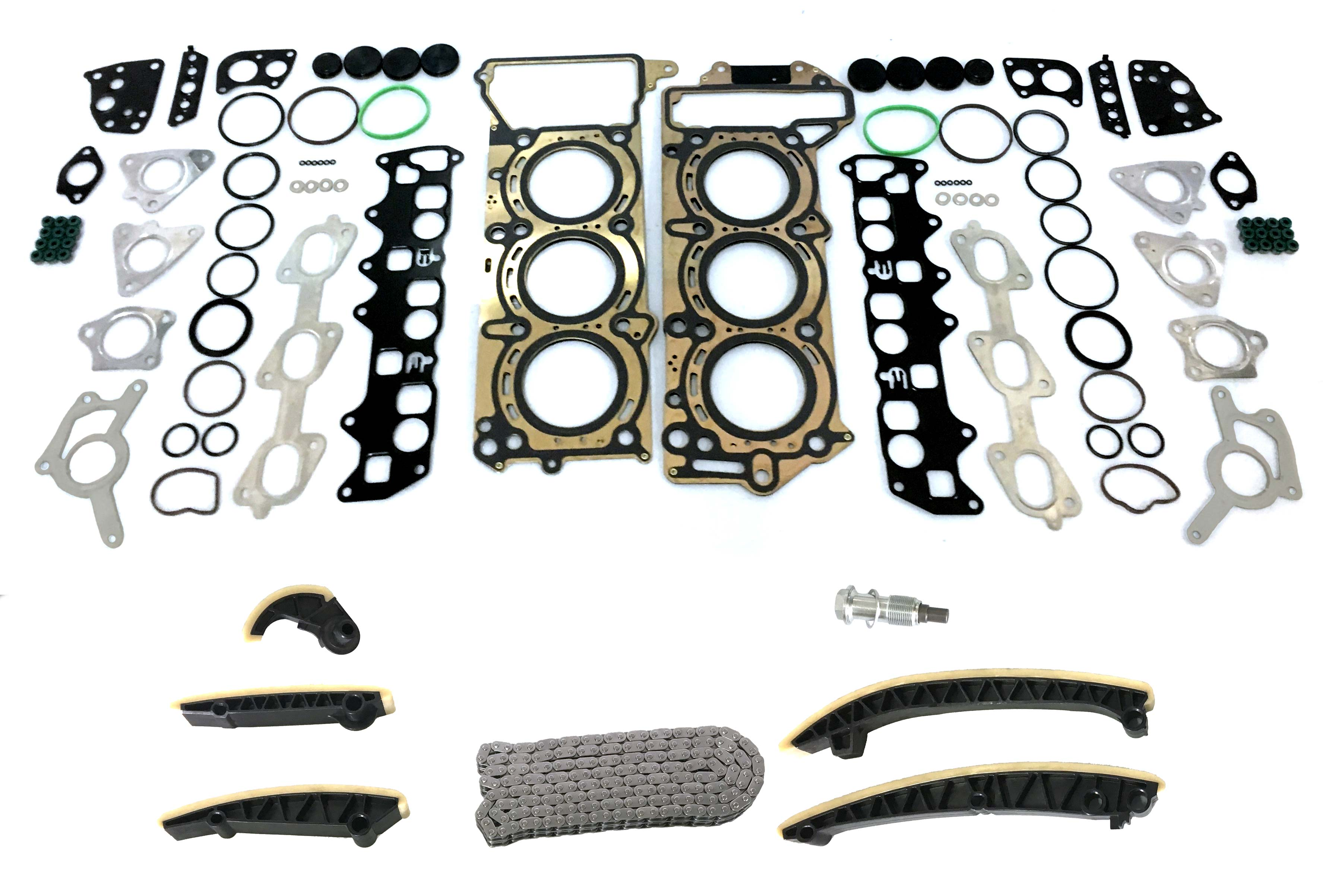 Cylinder head gasket Timing chain kit gasket set Mercedes 3.0 CDI 642.820 NEW
