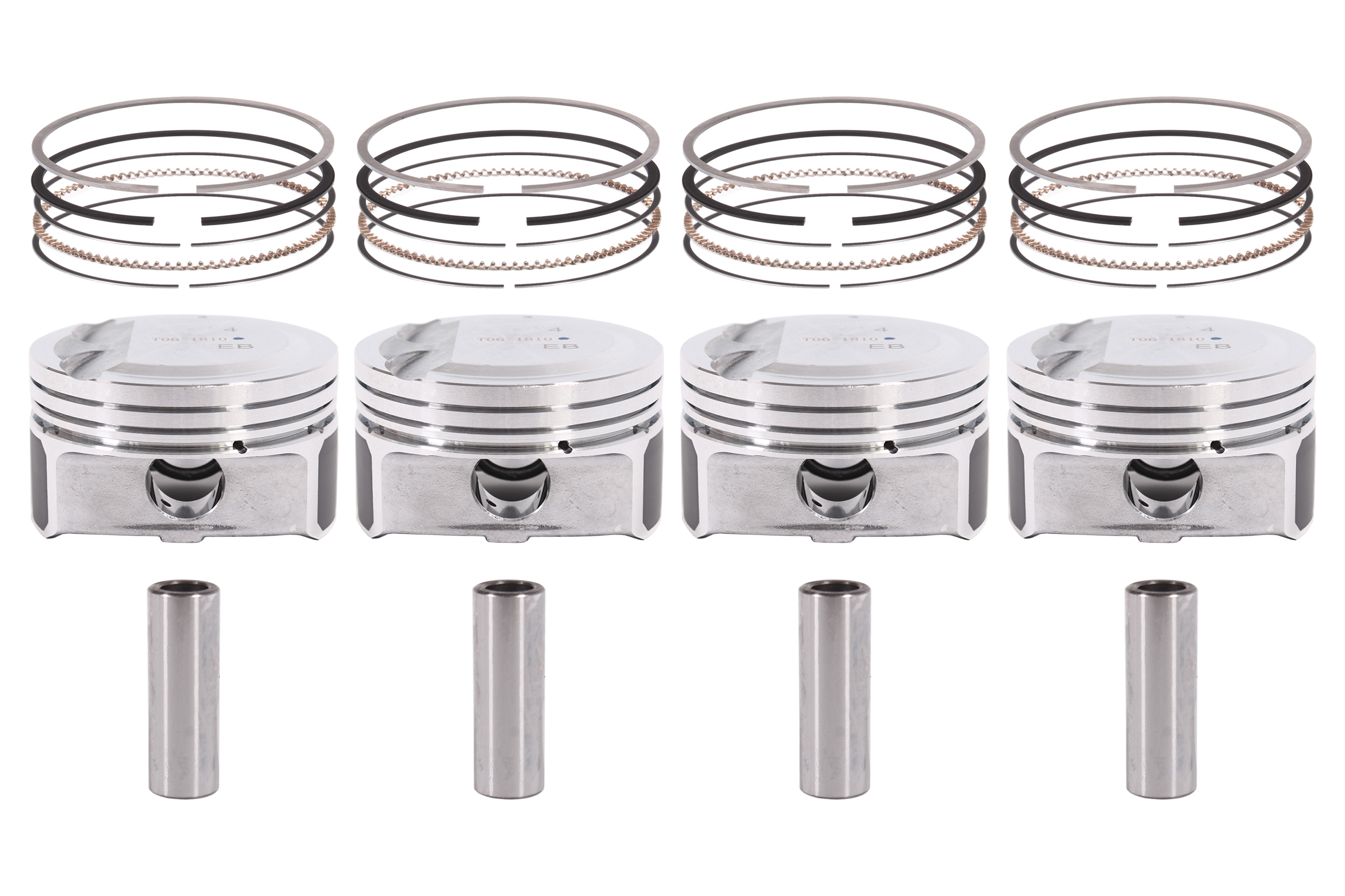 4x Piston set Hyundai IV i20 i30 CW ix20 Ceed Rio is 1.4 CVVT G4FA NEW DE250771