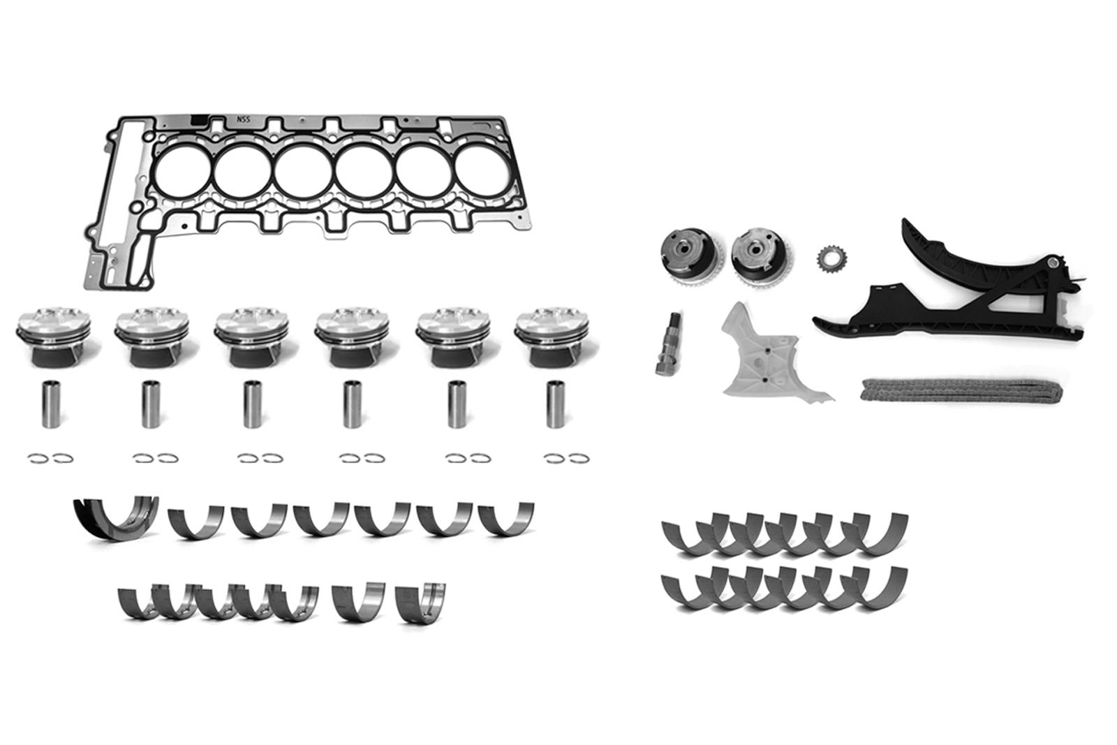 Kolben ZKD Lagerschalen Kettensatz BMW E90 F10 X3 X4 X5 3,0 N55 N55B30A NEU