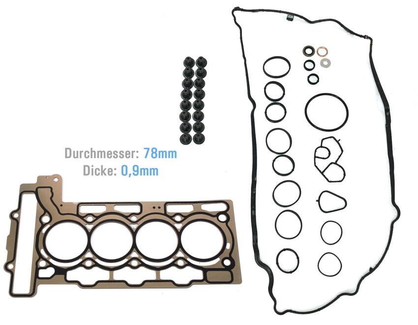 Dichtungssatz Zylinderkopfdichtung Mini R56 Clubman R55 One 1,4 N12B14A N12 NEU