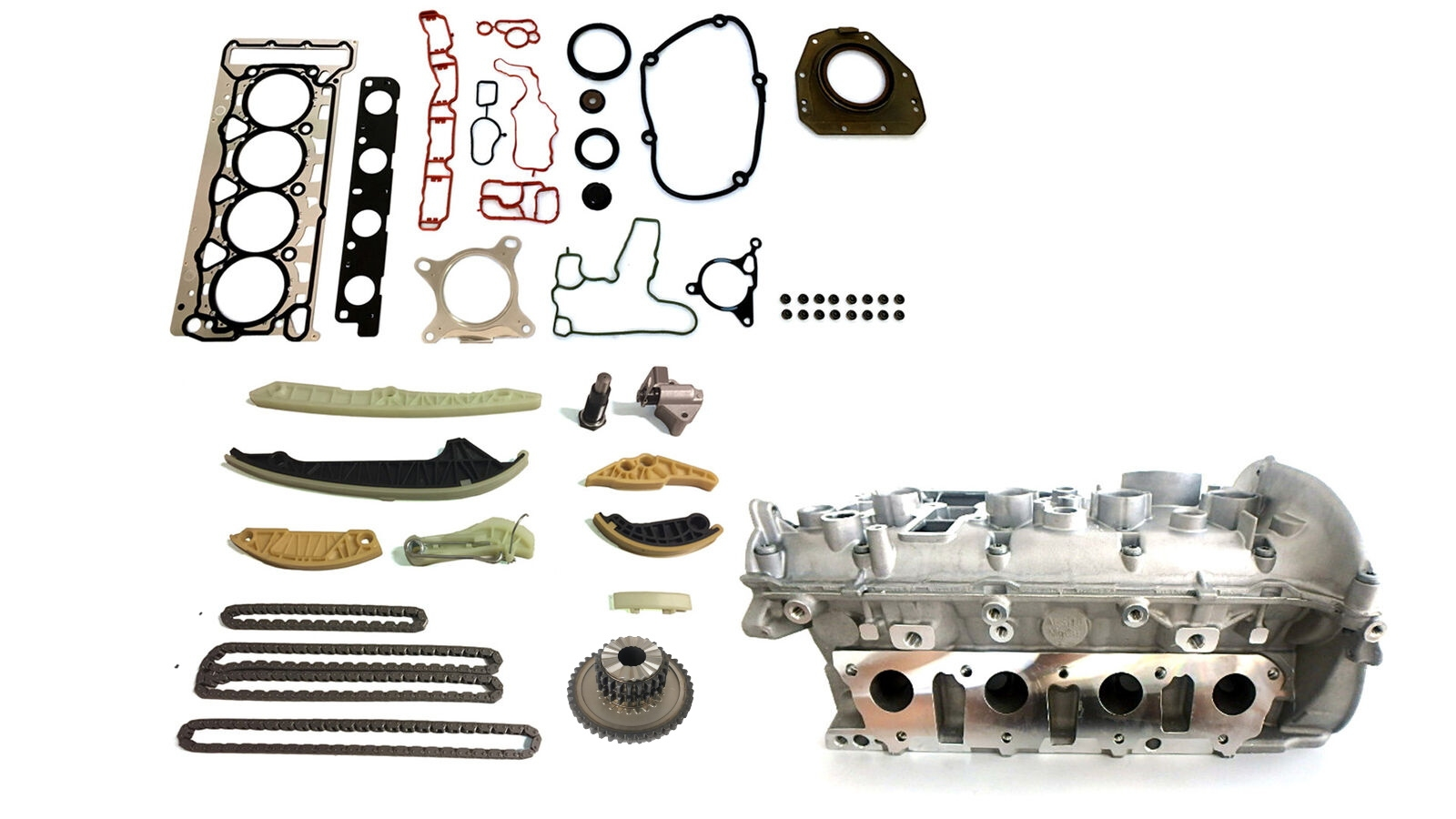 Zylinderkopf Dichtungssatz Kettensatz VW Skoda Audi TFSI CDA CCZA CCZB NEU
